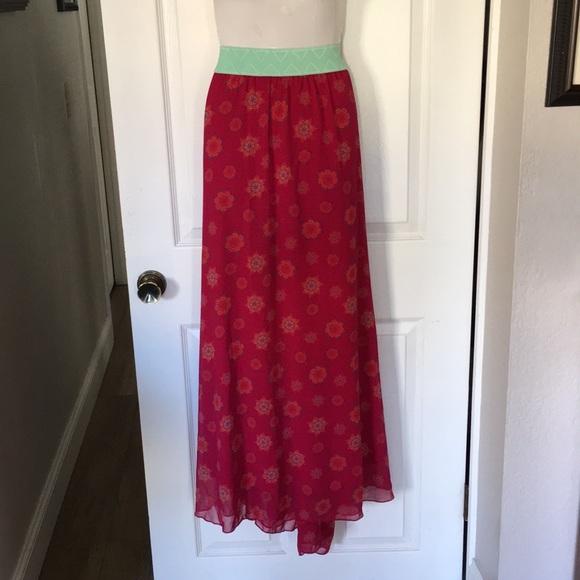 """LuLaRoe Dresses & Skirts - New! Lularoe """"Lucy"""" Maxi Skirt"""